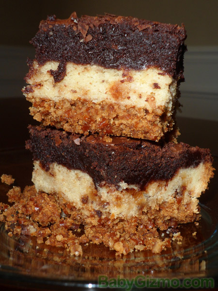 Ultimate Pretzel Crusted Sugar Cookie Heath Brownie Bars