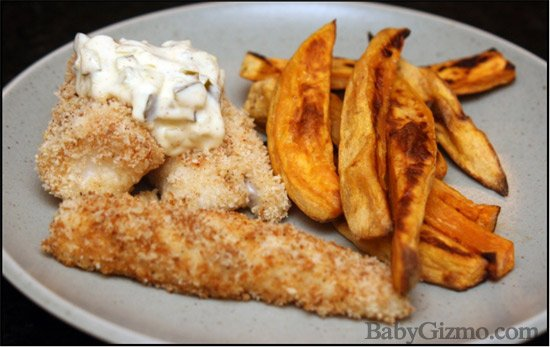 Baked Fish n' Chips for St. Paddy's Day