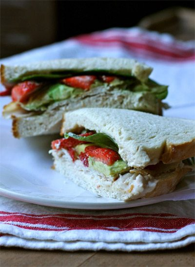 Smoked Turkey and Strawberry Sandwich