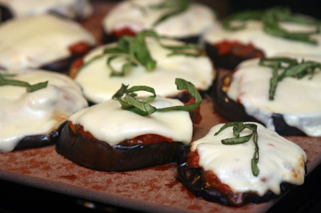 A Girl and HGrilled Eggplant Parmesan