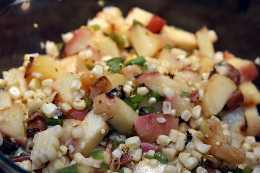 Grilled Peach and Corn Salad