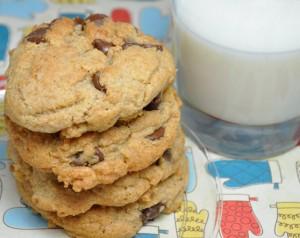 Whole Wheat Banana Chocolate Chip Cookies