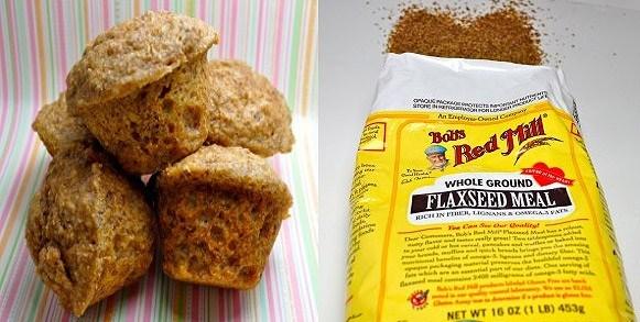 Banana Flaxseed muffins