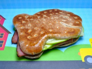 Ham and Cheese Gold Fish Sandwich