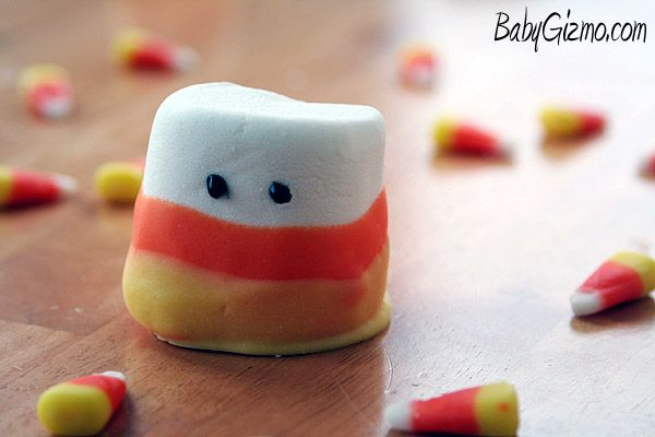 Candy Corn Marshmallow Ghosts