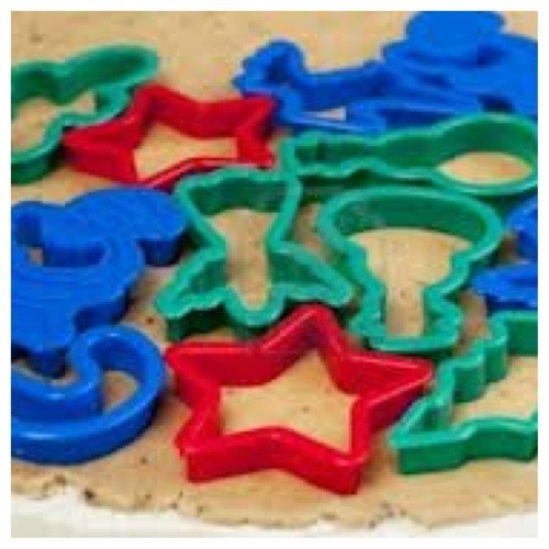 cookie cutters on table