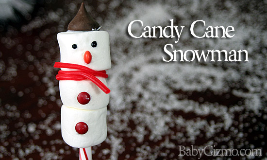 Candy Cane Snowman Tutorial (VIDEO)