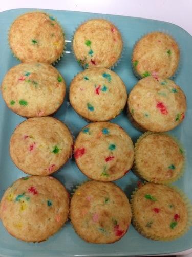Christmas Funfetti Cupcakes