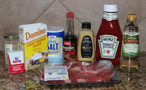 BBQ beef ingredients