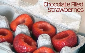 How to Make Chocolate Filled Strawberries