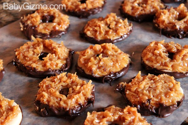 coconut cookies on wax paper