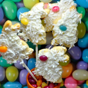 Easter Bunny Cookies on a Stick