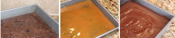 Twix Brownies in pan