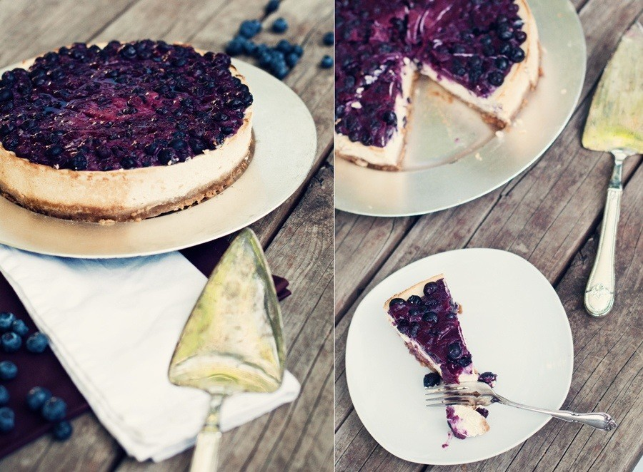 Blueberry Topped Cottage Cheesecake