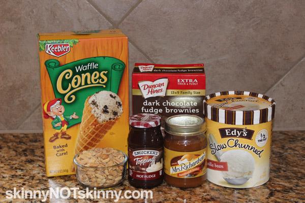 Drumstick Brownie ingredients on counter