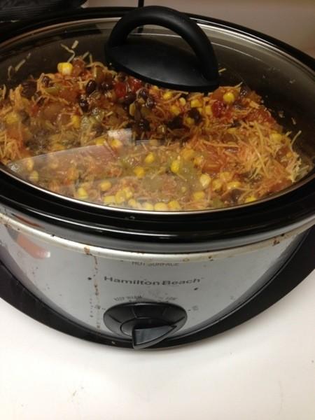 taco chicken in crockpot