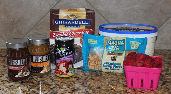raspberry ice cream dessert ingredients