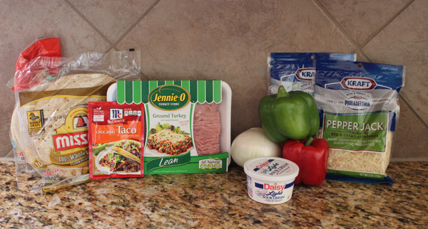 Turkey Quesadillas Ingredients