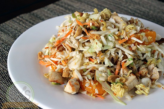 Mandarin Chicken Salad on a white plate