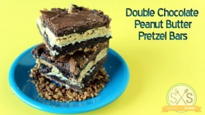 Double Chocolate Peanut Butter Pretzel Bars