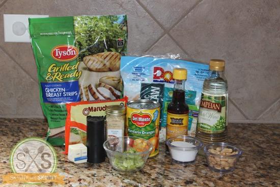 Mandarin Salad ingredients