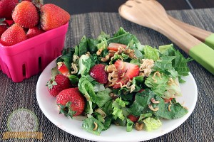 Crunchy Romaine Strawberry Walnut Salad