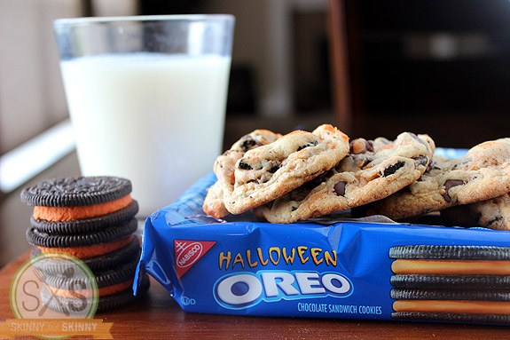 Halloween Oreo Chocolate Chip Pudding Cookies