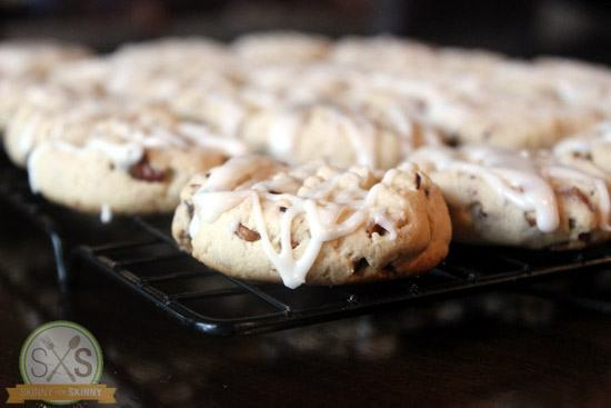 Maple Cookies with icing  on cooling rack