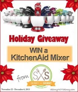 KitchenAid 5-Quart Mixer Holiday Giveaway