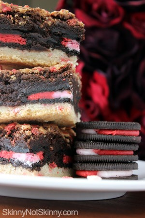 Peppermint Oreo Cookie Brownies