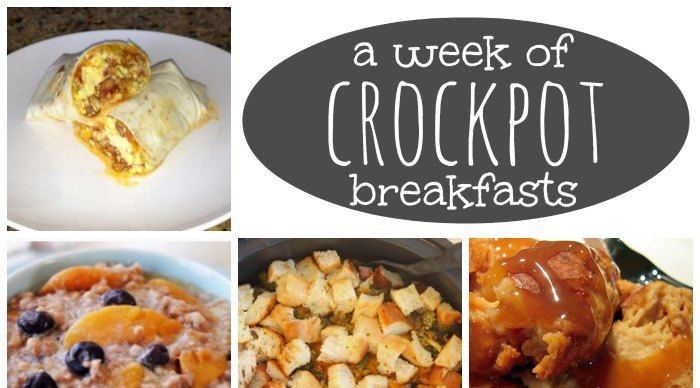 Crockpot Breakfast Ideas for a Week