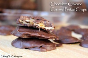 Chocolate Covered Caramel Pretzel Crisps