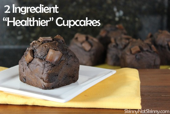 "Two Ingredient ""Healthier"" Cupcakes"