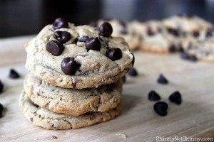 Dark Chocolate Peanut Butter Toffee Cookies