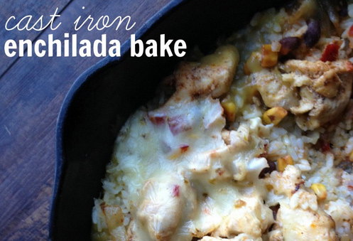 Cast Iron Enchilada Bake