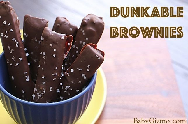 Dunkable Fudge Brownie Sticks