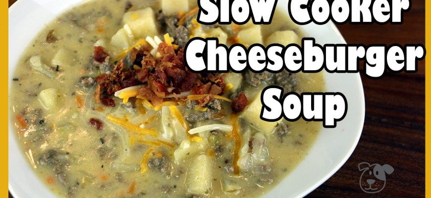 Slow Cooker Cheeseburger Soup Recipe