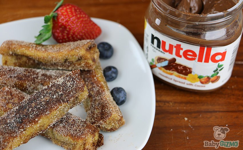 Nutella Stuffed French Toast Roll Ups