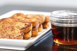Cinnamon French Toast with Spiced Maple Syrup